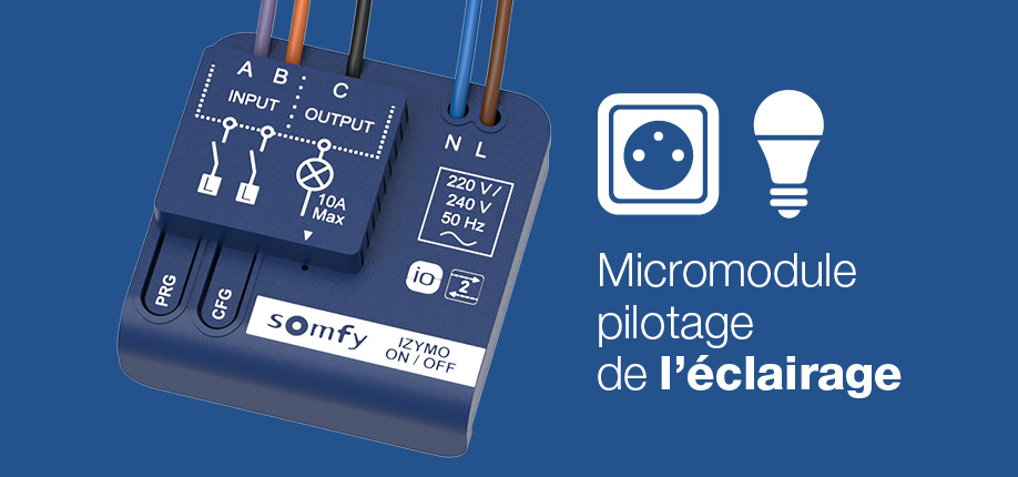 micromodule eclairage izymo compatible energeasy connect