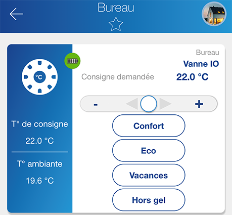 pilotage tête io somfy application energeasy connect